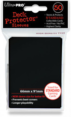 Ultra Pro Standard Sleeves Pack of 50 in Raven Black (New Sleeves Size 66mm x 91mm)