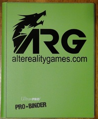 ARG Ultra Pro Pro-Binder-Green w/ Black Logo