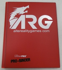 ARG Ultra Pro Pro-Binder-Red w/ White Logo