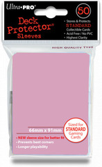 Ultra Pro Standard Sleeves Pack of 50 in Sunset Pink (New Sleeves Size 66mm x 91mm)