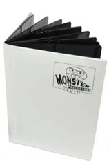 Monster Binder 4 Pocket - Matte White
