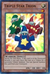 Triple Star Trion - ZTIN-EN019 - Super Rare - 1st Edition on Channel Fireball