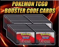 9 Count Lot of Pokemon Online unused Digital Booster Pack Codes (1/4 of a booster box)