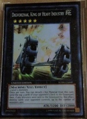 Digvorzhak, King of Heavy Industry Super Rare YCSW-EN005 on Channel Fireball
