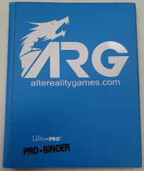 ARG Ultra Pro Pro-Binder-Light Blue w/ White Logo