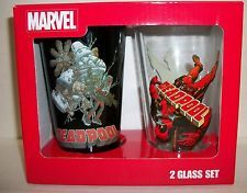Marvel Deadpool 2-pack Pint Glasses