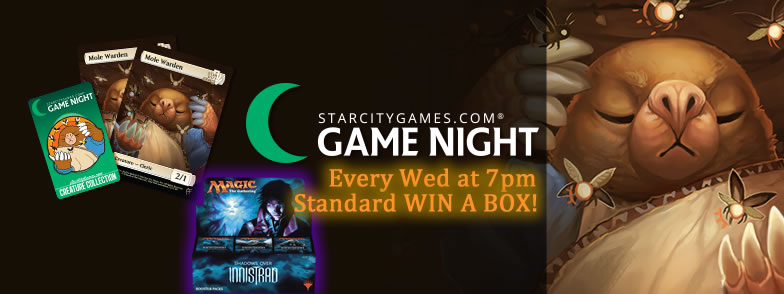 SCG Game Night Every Wed at 7pm