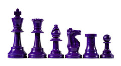 Purple Plastic Chess Pieces