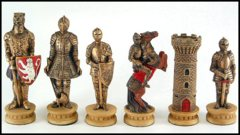 Medieval Armored Knights Chess Set