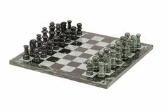 Marble Chess Set - Black & Green (16