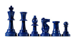 Blue Plastic Chess Pieces