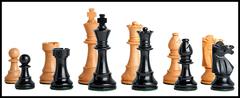 Club Series Chess Set in Ebonized Boxwood - 3.75