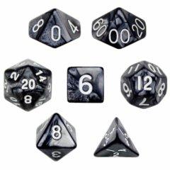 Pearl Black / White 7 Dice Set