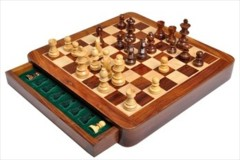 Wooden Magnetic Travel Chess Set - 12