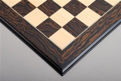 Tiger Ebony and Maple Chessboard