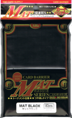 KMC Mat Black Sleeves (10 pks)