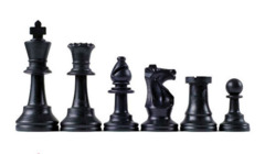 Black Plastic Chess Pieces