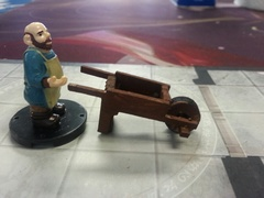 Wheelbarrow   D&D scaled miniature