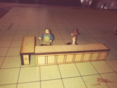 Bar set (2 pieces)  D&D sized Miniatures
