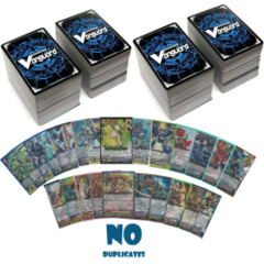 Cardfight 400 Cards No Duplicates w/ 20x RR, 5x RRR 50x R NO DUPLICATES AT ALL