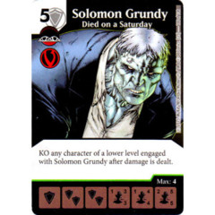 Solomon Grundy - Died on a Saturday (Die & Card Combo Combo)