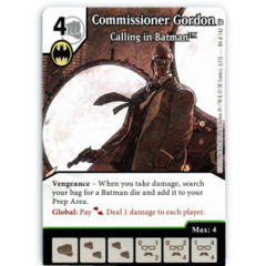 Commissioner Gordon - Calling in Batman (Die & Card Combo)