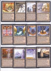 complete set ANTIQUITIES urza's lands (4x of each mine, power plant, tower)