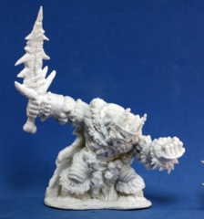 Reaper Bones Miniatures: Boerogg Blackrime, Frost Giant Jarl 77106