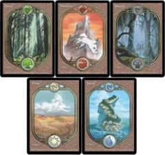 4x x4 each basic land full art (playset, 20 total)