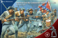 ACW CONFEDERATE INFANTRY 1861-65 28MM HARD PLASTIC BOX SET