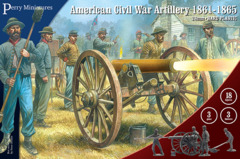 ACW ARTILLERY 1861-65 28MM HARD PLASTIC BOX SET