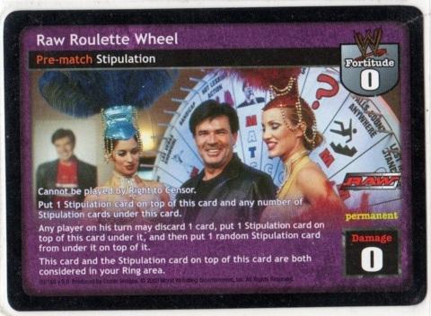 Wwe raw roulette wheel