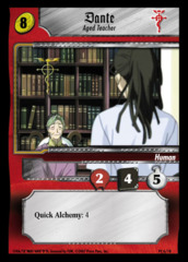 Dante, Aged Teacher 6/18