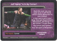 Revolution Jeff Hardy Is In My Corner!