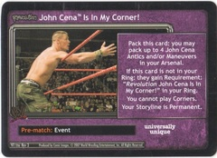Revolution John Cena Is In My Corner!