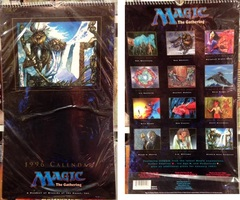 Magic the Gathering Wall Calendar - 1996