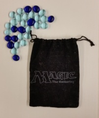 Magic Logo Dice Bag w/ Glass Counters