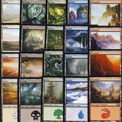 Magic 2012 (M12) Basic Land Set