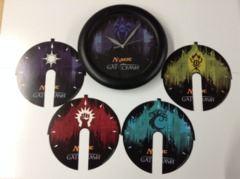 Magic the Gathering - Gatecrash Wall Clock + 5 Faces
