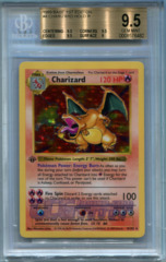 Charizard (Base Set 1st Edition) - Beckett Gem Mint 9.5