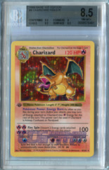 Charizard (Base Set 1st Edition) - Beckett NM-MINT+ 8.5