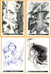 The Gathering - 20th Anniv. Promo Sketch Cards: Set of 4