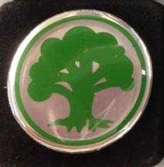 Magic the Gathering Mana Symbol Pin - Green