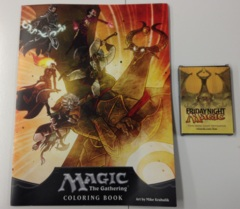 Magic the Gathering Coloring Book w/ crayons - PAX 2012 Swag