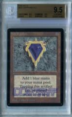 Mox Sapphire (Beta) - Beckett Gem Mint Quad 9.5