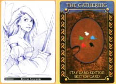 The Gathering: Serra Angel - 20th Anniv. Promo Sketch Card