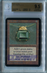 Mox Emerald (Alpha) - Beckett Gem Mint 9.5