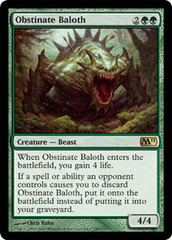 Obstinate Baloth - Foil on Channel Fireball