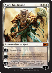 Ajani Goldmane - Foil on Channel Fireball