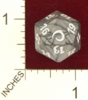 20 Sided Spindown Die - Premium Deck Series: Slivers on Channel Fireball